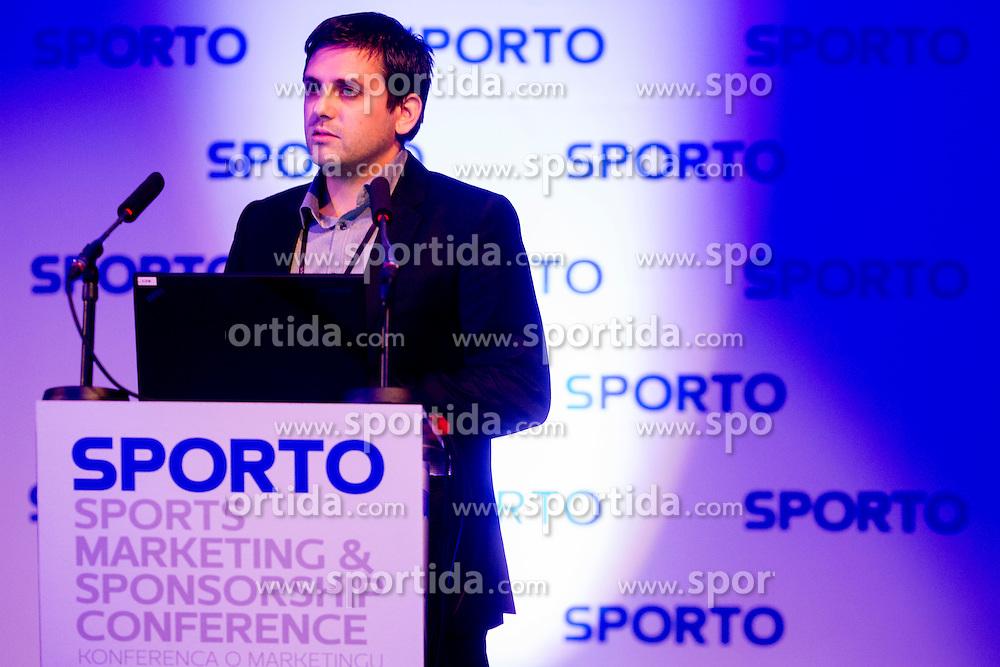 Ales Kriznar at sports marketing and sponsorship conference Sporto 2013, on November 21, 2012 in Hotel Slovenija, Congress centre, Portoroz / Portorose, Slovenia. Photo by Vid Ponikvar / Sportida