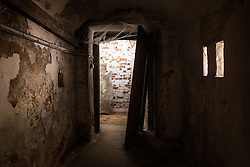 © Licensed to London News Pictures. 23/06/2015. Leeds, UK. Rarely seen hidden Tudor tunnels & cellars of Temple Newsam house in Yorkshire. Picture shows the hidden cellars underneath the house. Temple Newsam is famous as the birth place of Lord Darnley, notorious husband of Mary Queen of Scots. The Tudor-Jacobean mansion is set in 1,500 acres with grounds landscaped by Capability Brown. Photo credit : Andrew McCaren/LNP