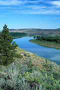 Missouri River as it passes through the Charles M. Russell National Wildlife Refuge in eastern Montana.