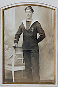 1900s marine soldier with medal decoration