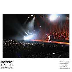 Brazilian performer Gilberto Gil performs at Wellington's Events Centre during the New Zealand International Arts Festival 2004.