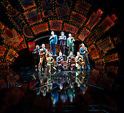 Guys and Dolls<br /> by Frank Loesser, Jo Swerling &amp; Abe Burrows<br /> directed by Gordon Greenberg<br /> at the Festival Theatre, Chichester, Great Britain <br /> Press photocall<br /> 19th August 2014 <br /> <br /> Harry Morrison (Nicely-Nicely Johnson)<br /> Peter Polycarpou (Nathan Detroit)<br /> Ian Hughes (Benny Southstreet)<br /> <br /> Clare Foster (Sarah Brown)<br /> Jamie Parker (Sky Masterson)<br /> Peter Polycarpou<br /> Sophie Thompson (Miss Adelaide)<br /> Hot Box Ladies<br /> Crap Shooters <br /> <br /> and company <br /> <br /> choreography by Carlos Acosta<br /> <br /> <br /> Photograph by Elliott Franks <br /> Image licensed to Elliott Franks Photography Services