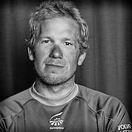 PORTUGAL, Lisbon. 31st May 2012. Volvo Ocean Race, Leg 7 (Miami-Lisbon) finish. Martin Krite, Bowman/Boat Captain, Groupama sailing team.