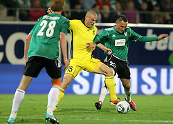28.07.2011, Keine Sorgen Arena, Ried im Innkreis, AUT, UEFA EL Qualifikation, SV Josko Ried vs Brondby IF, im Bild Thomas Reifeltshammer, (SV Josko Ried, #28), Mikkel Thygesen, (Brøndby IF, Midfield, #15) und Anel Hadzic, (SV Josko Ried, #20) (v.l.n.r.) // during football match between SV Josko Ried (AUT) and Brondby IF (DEN) 1st Leg of Europa League third Qualifying Round, on July 28, 2011 at Keine Sorgen Arena Ried im Innkreis, Austria. EXPA Pictures © 2011, PhotoCredit: EXPA/ R. Hackl