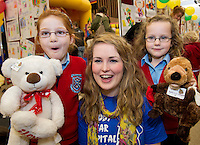 24/02/2013. Alison Cheeseman with Bella and Emily Higgins with Beaver and  Sinead Coen 2nd Med NUIG (centre)at the Teddybear Hospital a training day for students and Get to know your the hospital for Children and Teddys.Picture:Andrew Downes