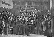 The Peace of Westphalia, 30th January 1648 ended the War of Octogenarians.  The Dutch Republic was considered to be an independent state.  the great hall of the Munster Town Hall on that memorable day.