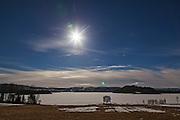 Solar eclipse, Norway. Vårjevndøgn og solformørkelse. Selbu i Sør-Trøndelag.