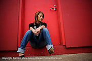 Brittany. Photographed 1-26-09 at downtown San Antonio..PHOTO © BAHRAM MARK SOBHANI