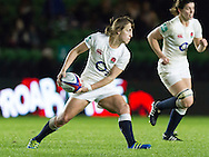 Katy McLean in action, England Women v France Women in an Old Mutual Wealth Series, Autumn International match at Twickenham Stoop, Twickenham, England, on 9th November 2016. Full Time score 10-5