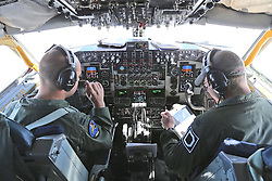 29.05.2015, Mildenhall, ENG, 100th ARW, Artic Challenge, USAFE, RAF Mildenhall, im Bild Im Cockpit einer KC 135 der USAFE // during an aerial refueling maneuver over Mildenhall, Great Britain on 2015/05/29. EXPA Pictures © 2015, PhotoCredit: EXPA/ Eibner-Pressefoto/ Neurohr<br /> <br /> *****ATTENTION - OUT of GER*****