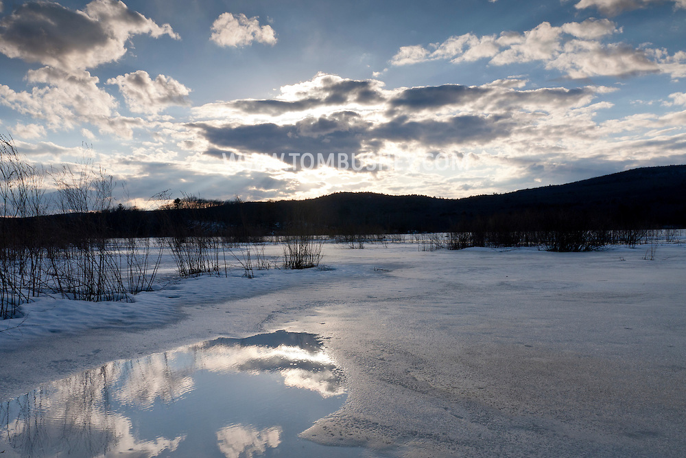 Mamakating, New York - Late-winter scenes at the Bashaskill Wildlife Management Area on March 15, 2014.