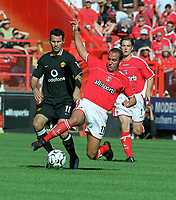 Paolo Di Canio (Charlton) Ryan Giggs (Man Utd). Charlton Athletic v Manchester United. 13/9/2003. Credit : Colorsport/Andrew Cowie.
