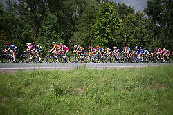 The peloton is strung out on Stage 3 of the Lotto Thuringen Ladies Tour - a 124 km road race, starting and finishing in Weimar on July 15, 2017, in Thuringen, Germany. (Photo by Balint Hamvas/Velofocus.com)
