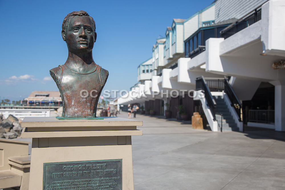 George Freeth Memorial Bronze Statue at the Redondo Beach Pier