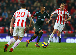 Fernandinho of Manchester City runs with the ball - Mandatory by-line: Robbie Stephenson/JMP - 12/03/2018 - FOOTBALL - Bet365 Stadium - Stoke-on-Trent, England - Stoke City v Manchester City - Premier League