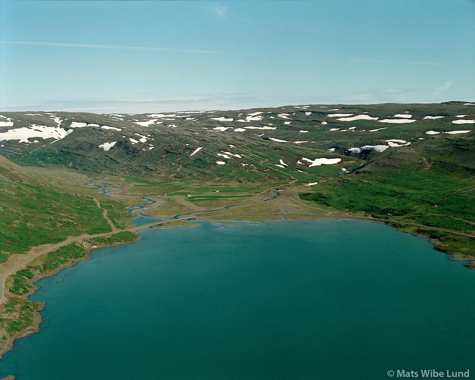 Kollabúðir fyrir miðju, Þorskafjarðarþing  th.og Gunnarsstaðir tv. Reykhólahreppur..Kollabudir in th middle,  Thorskafjardarthing right and Gunnarsstadir deserted farm left, Reykholahreppur