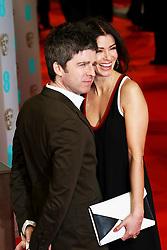 © London News Pictures. Noel Gallagher, Sara Macdonald, EE British Academy Film Awards (BAFTAs), Royal Opera House Covent Garden, London UK, 08 February 2015, Photo by Richard Goldschmidt /LNP