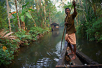 Inde, Etat du Kerala, Allepey, backwaters // India, Kerala state, Allepey, backwaters