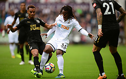Renato Sanches of Swansea City Battles for the ball with Jacob Murphy of Newcastle United - Mandatory by-line: Alex James/JMP - 10/09/2017 - FOOTBALL - Liberty Stadium - Swansea, England - Swansea City v Newcastle United - Premier League