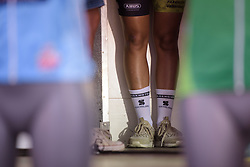 Waiting for the podium at Boels Rental Ladies Tour Stage 4 a 121.4 km road race from Gennep to Weert, Netherlands on September 1, 2017. (Photo by Sean Robinson/Velofocus)