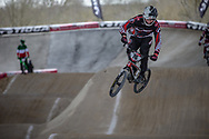#76 (BABRIS Helvijs) LAT at Round 2 of the 2018 UCI BMX Superscross World Cup in Saint-Quentin-En-Yvelines, France.