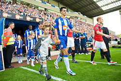 WIGAN, ENGLAND - Saturday, August 22, 2009: Wigan Athletic's Paul Scharner during the Premiership match at the DW Stadium. (Photo by David Rawcliffe/Propaganda)