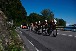 Boels Dolmans on their way to third place at Giro Rosa 2018 - Stage 1, a 15.5 km team time trial in Verbania, Italy on July 6, 2018. Photo by Sean Robinson/velofocus.com