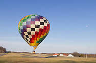 Middletown, New York - A hot air balloon takes off from Randall Airport on April 12, 2014.