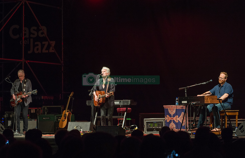 July 2, 2018 - Rome, Italy, Italy - The legendary rock musician has performed, the only Italian date, at the Casa del Jazz in Rome on 2/7/2018 in the musical review 'I Concerti nel Parco'. Nash first with the Hollies then with Crosby, Stills and Young has collected many hits with songs passed to history. With him on stage Shane Fontaine on guitar and Todd Caldwell on keyboards. Siena Fontaine (L), Graham Nash and Todd Caldwell (D) (Credit Image: © Leo Claudio De Petris/Pacific Press via ZUMA Wire)