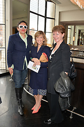 Left to right, SELINA BLOW, EDINA RONAY and SUSAN GILMOUR at a ladies lunch in aid of the charity Maggie's held at Le Cafe Anglais, 8 Porchester Gardens, London on 29th April 2014.