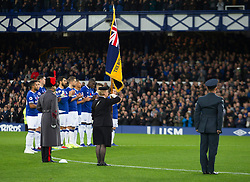 Everton during a remembrance minutes silence - Mandatory by-line: Jack Phillips/JMP - 03/11/2018 - FOOTBALL - Goodison Park - Liverpool, England - Everton v Brighton and Hove Albion - English Premier League