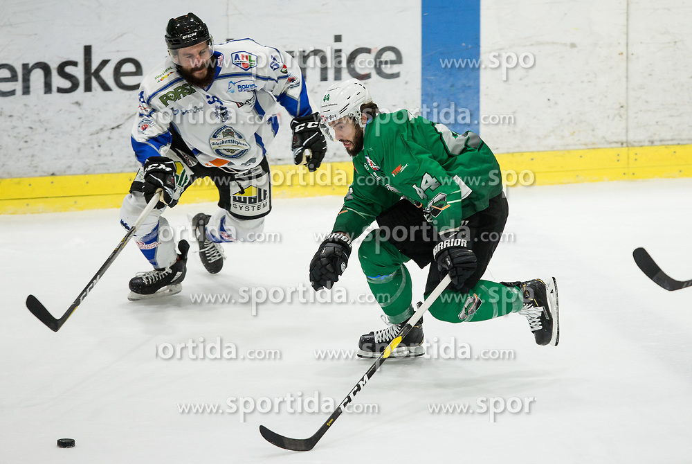 David Planko of SZ Olimpija during ice hockey match between HK SZ Olimpija and WSV Sterzing Broncos Weihenstephan (ITA) in Round #12 of AHL - Alps Hockey League 2018/19, on October 30, 2018, in Hala Tivoli, Ljubljana, Slovenia. Photo by Vid Ponikvar / Sportida
