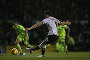 Derby County forward Chris Martin scores from the penalty spot during the Sky Bet Championship match between Derby County and Brighton and Hove Albion at the iPro Stadium, Derby, England on 12 December 2015.