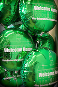 Balloons, prepared by the Department of Housing and Residence Life, adorn the Ohio University Residential Housing Phase 1 opening ceremony and event on Saturday, August 29, 2015 at the Living Learning Center on the Ohio University campus in Athens, Ohio.