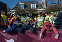 Just chilling watching the world go by  - Drentse 8, a 140km road race starting and finishing in Dwingeloo, on March 13, 2016 in Drenthe, Netherlands.