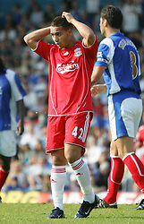 Portsmouth, England: Saturday, April 28, 2007: Liverpool's Nabil El Zhar in action against Portsmouth during the Premiership match at Fratton Park (Pic by Chris Ratcliffe/Propaganda)