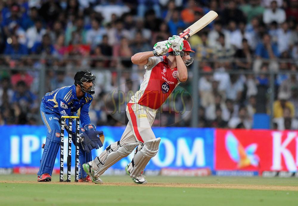 Shaun Marsh of Kings XI Punjab bats  during match 28 of the Indian Premier League ( IPL) 2012  between The Mumbai Indians and the Kings X1 Punjab held at the Wankhede Stadium in Mumbai on the 22nd April 2012..Photo by Pal Pillai/IPL/SPORTZPICS.