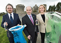 Repro Free: Minister Denis Naughten kicks off National Spring Clean 2017 in massive clean-up in his home county Roscommon' with Michael John O'Mahony An Taisce and Kathy Hogan from Mars who are sponsoring the campaign<br />  Photo: Andrew Downes,  xposure