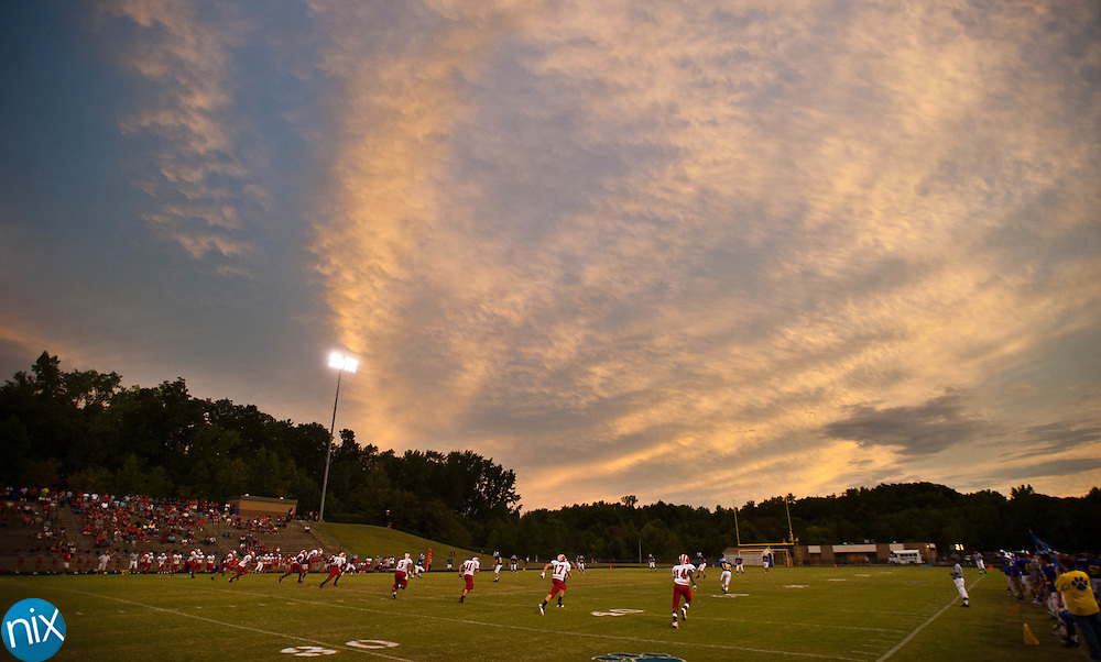South Stanly kicks off to Mount Pleasant Friday night at Mount Pleasant High School. South Stanly edged out the Tigers 23-20. (photo by James NIx)