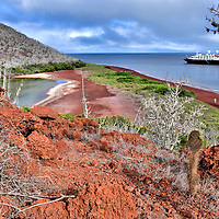 Incredible Scenery of R&aacute;bida Island in Gal&aacute;pagos, EC<br />