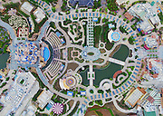 SHANGHAI, May 8, 2016 <br /> <br /> An aerial photo taken on May 7, 2016 shows the Shanghai Disney Resort, Disney's first theme park in the Chinese mainland, in Shanghai, east China. The Shanghai Disney Resort started an internal test run on May 7 to prepare for its opening, scheduled for June 16.<br /> ©Exclusivepix Media