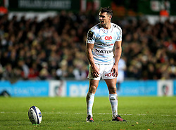 Dan Carter of Racing 92 stands over a conversion - Mandatory by-line: Robbie Stephenson/JMP - 23/10/2016 - RUGBY - Welford Road Stadium - Leicester, England - Leicester Tigers v Racing 92 - European Champions Cup