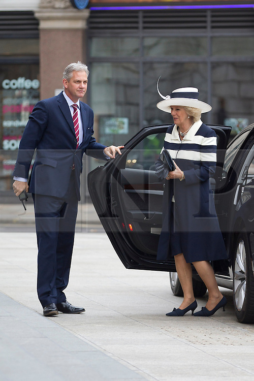 © Licensed to London News Pictures. 22/05/2013. London, UK. The Duchess of Cornwall arrives at St Paul's Cathedral in London today (22/05/2013) to attend a service of thanksgiving to celebrate the 75th anniversary of the Royal Voluntary Service (RVS). The RVS, previously known as the Women's Royal Voluntary Service (WRVS), is a charity organisation that helps older people live independent lives across Great Britain. Photo credit: Matt Cetti-Roberts/LNP