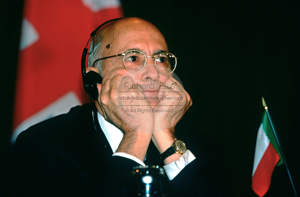 Italian Interior Minister Giorgio Napolitano October 12, 1997 in Washington, DC.