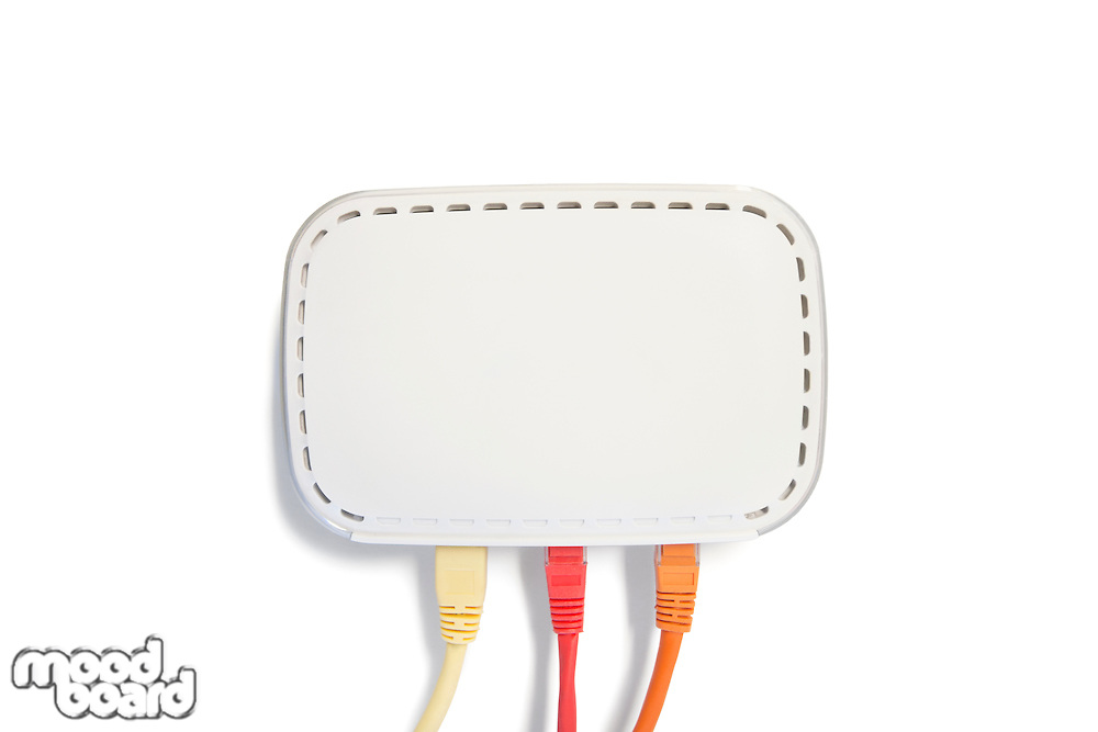 USB computer cable on white background