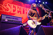 Seether performing at Uproar Festival at Verizon Wireless Amphitheater in St. Louis on September 25, 2011. © Todd Owyoung.