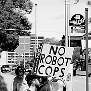 Liberty Restoration Project protest of red light traffic cameras in Kansas City.