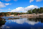 Rapids in autumn on the Vermilion River in Northern Ontario, Canada.