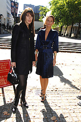 Right SAFFRON ALDRIDGE at the memorial service of Isabella Blow held at the Guards Chapel, London W1 on 18th September 2007.<br /><br />NON EXCLUSIVE - WORLD RIGHTS