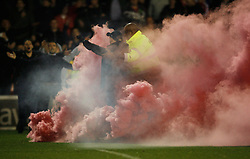 General view as fans invade the pitch at the final whistle - Mandatory byline: Jack Phillips / JMP - 07966386802 - 6/11/2015 - FOOTBALL - The City Ground - Nottingham, Nottinghamshire - Nottingham Forest v Derby County - Sky Bet Championship